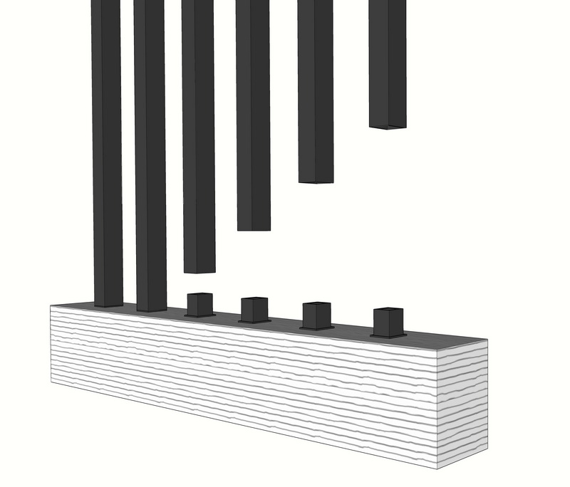 26 INCH STELL BALUSTERS SQUARE